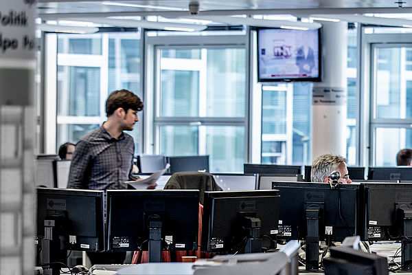 Newsroom in Berlin